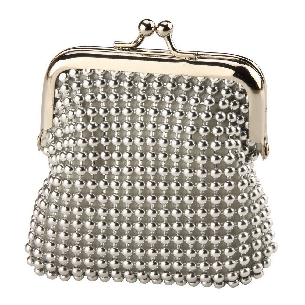 Coin PurseシルバーボールチェーンMaille Made withファブリック& Iron byジョークール   B00I4QLJNE