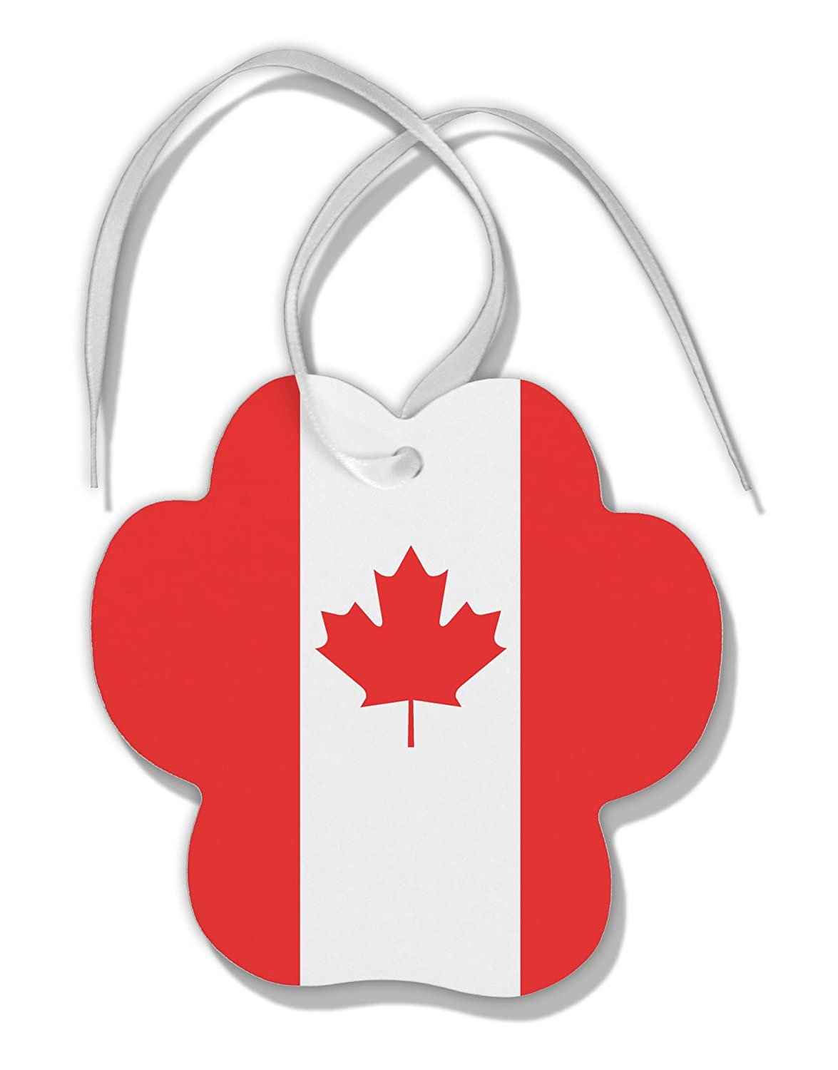 Amazoncom Tooloud Canadian Flag All Over Paw Print Shaped Ornament