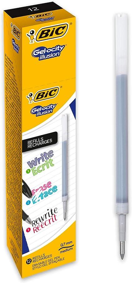 BIC Gel-ocity Illusion Recambios para Bolis de Gel Borrables punta ...