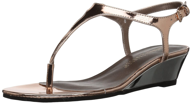 Athena Alexander Women's Lunna Wedge Sandal B01L14ZUUS 5 B(M) US|Rose Gold