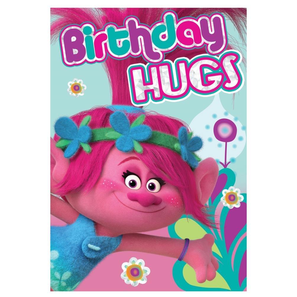 TROLLS Tarjeta de cumpleaños para Hugs: Amazon.es: Juguetes ...