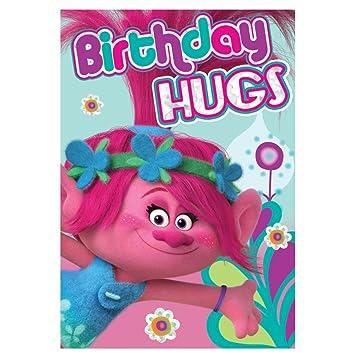 Amazon.com: Trolls Birthday Hugs tarjeta de cumpleaños ...