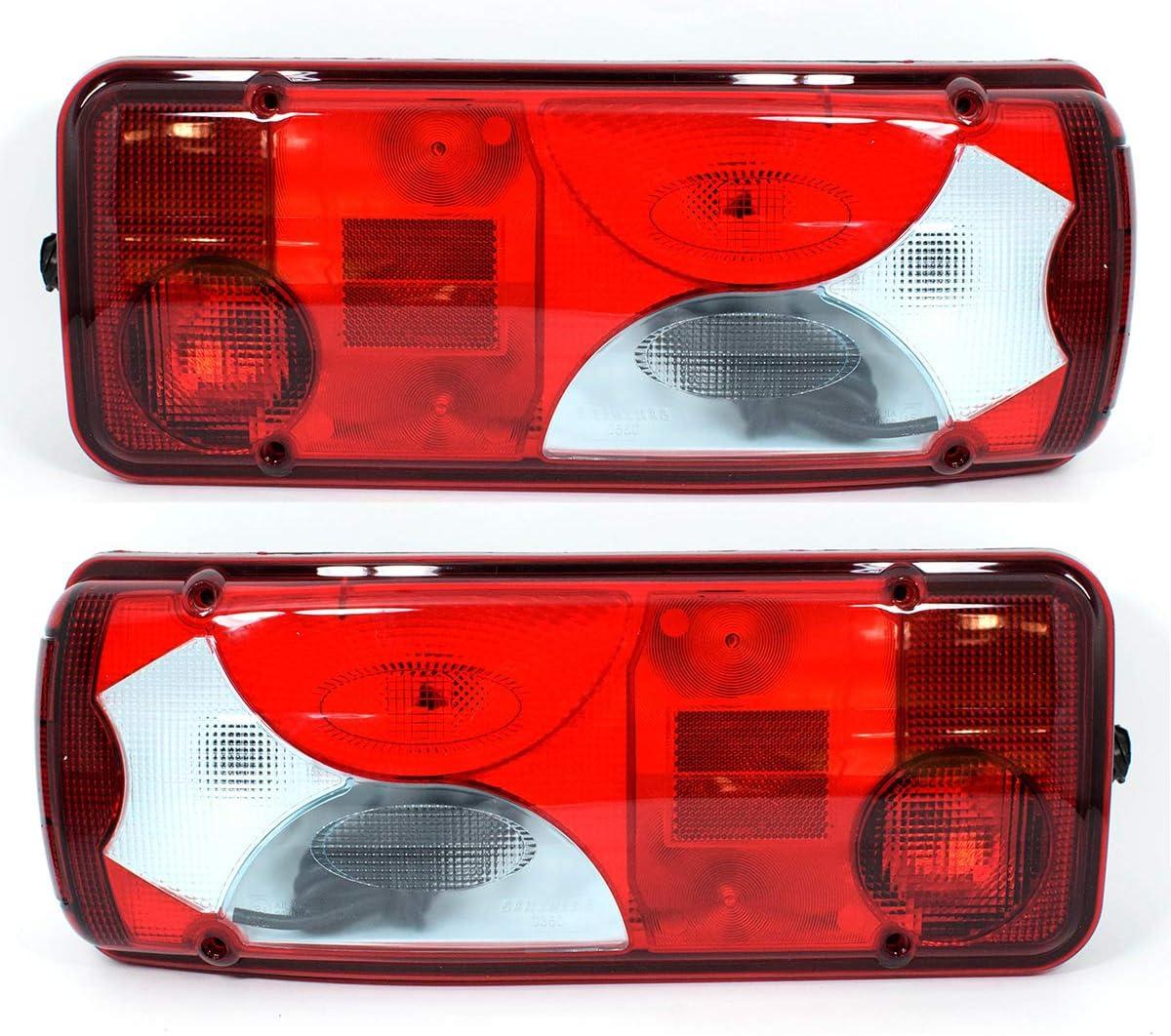 2x 12v 24v Rücklicht Rückleuchte Heckleuchte Lkw Pritsche Anhänger Sattelschlepper Fahrgestell Auto