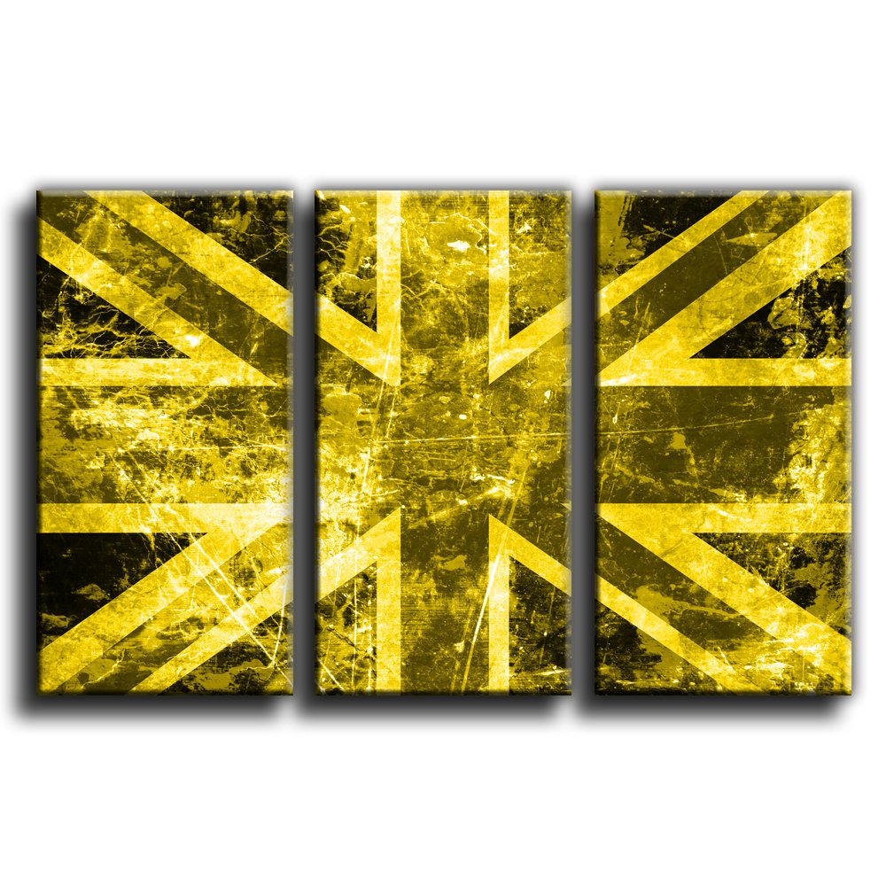 Canvas Culture - Vintage Flag Union Jack Canvas Art Print Treble Box ...