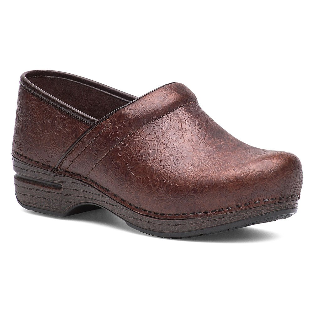 BROWN Dansko Women's Professional Box Leather Clog