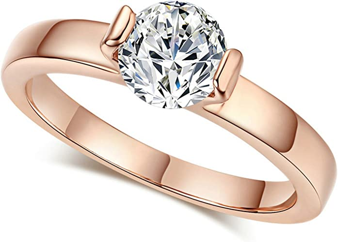 Gemmart Created White Opal Cubic Zirconia cz engagement ring old fashion rings