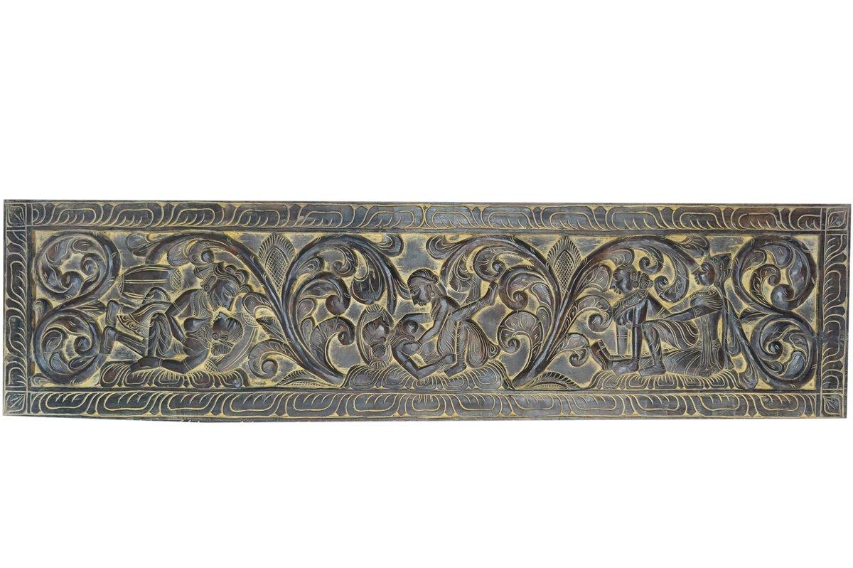 Vintage Carving Kamasutra Decorative Headboard Decor, Wall Hanging Exotic interior
