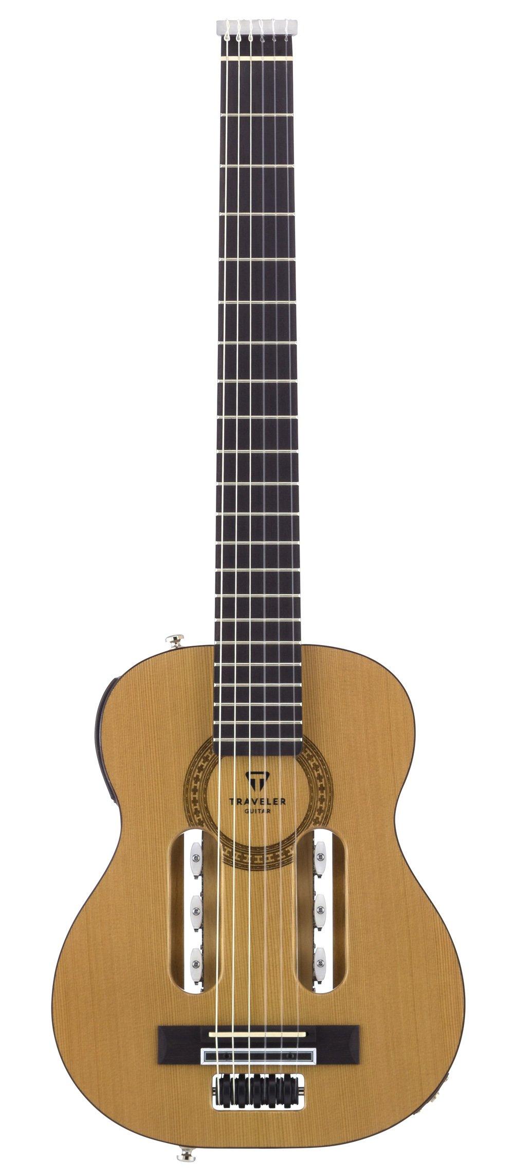 Traveler Guitar ESCN GLS Escape Classical Nylon-String Acoustic/Electric Travel Guitar with Gig Bag, Natural Gloss