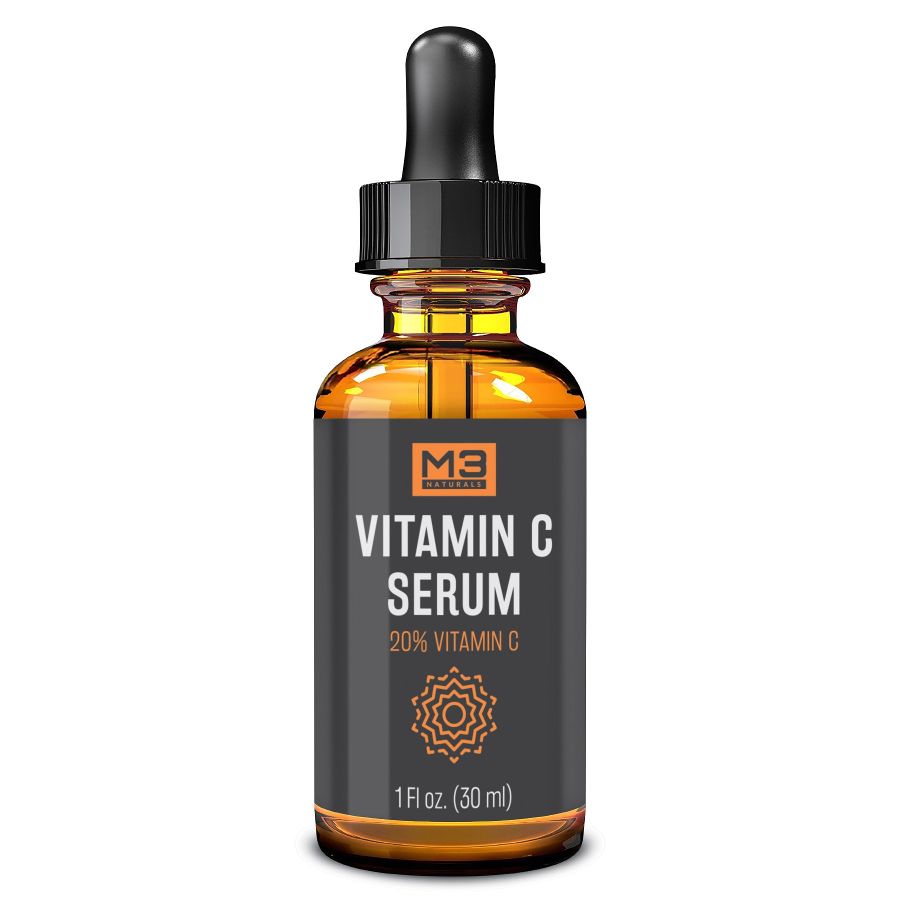Premium Vitamin C Serum for Face, Anti-Aging Topical Facial Serum with Hyaluronic Acid + Vitamin E, 1 fl oz.