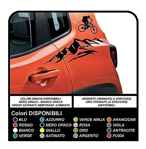 Pegatinas de montaña y bicicleta pegatinas puerta calcomanías nuevo (NEGRO)