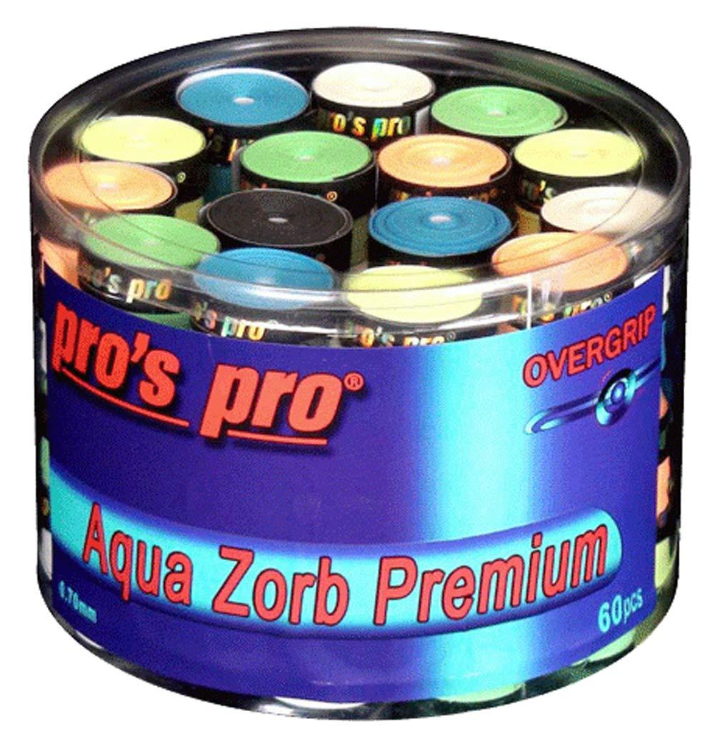 Pro Pros Impugnature da Tennis Aqua Zorb Premium 60pz