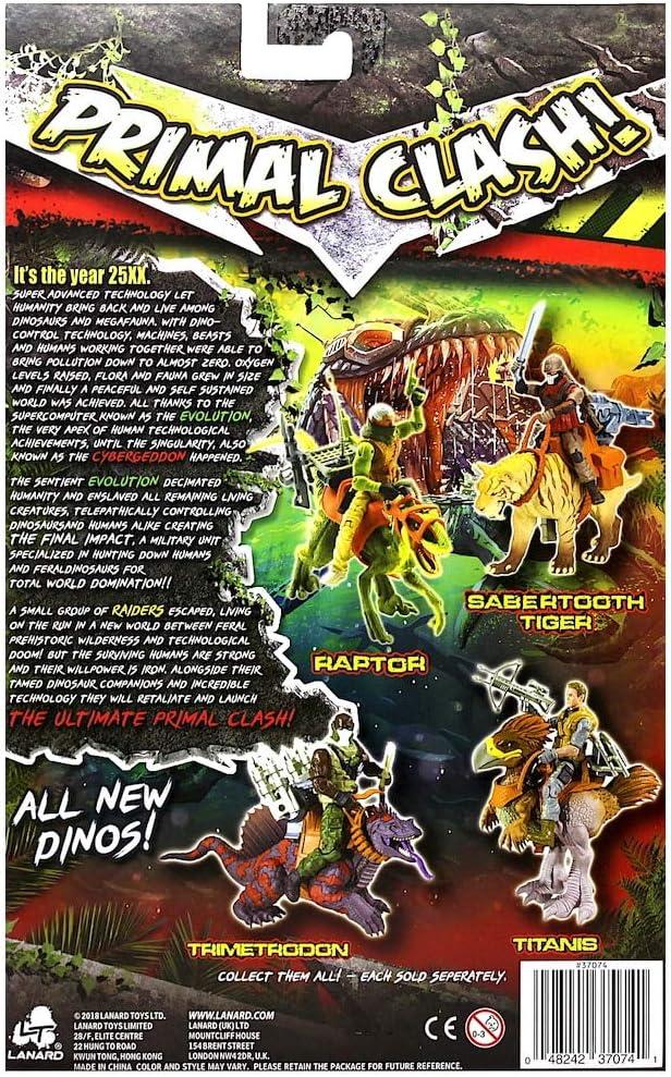 Primal Clash Dino Wrangler Actionfigur Raptor Beast Taming Dino Rider Lanard