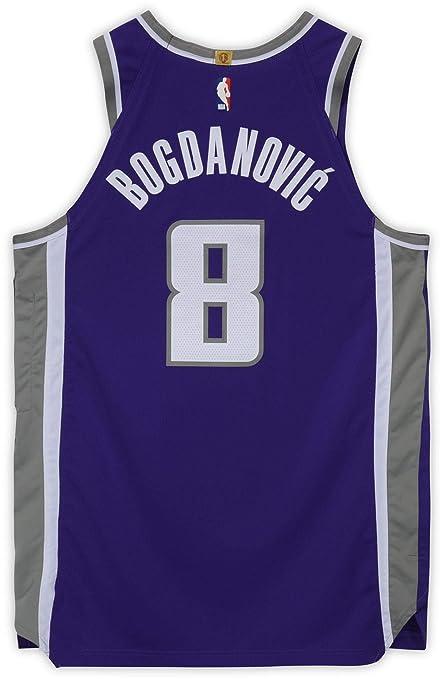 best sneakers 8768e dffbe Bogdan Bogdanovic Sacramento Kings Game-Used #8 Purple ...
