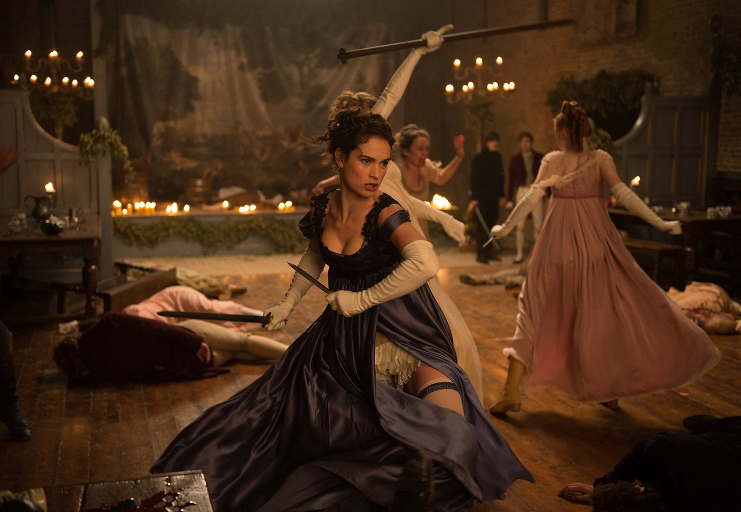 Amazon.com: Pride + Prejudice + Zombies: Lily James, Bella Heathcote ...
