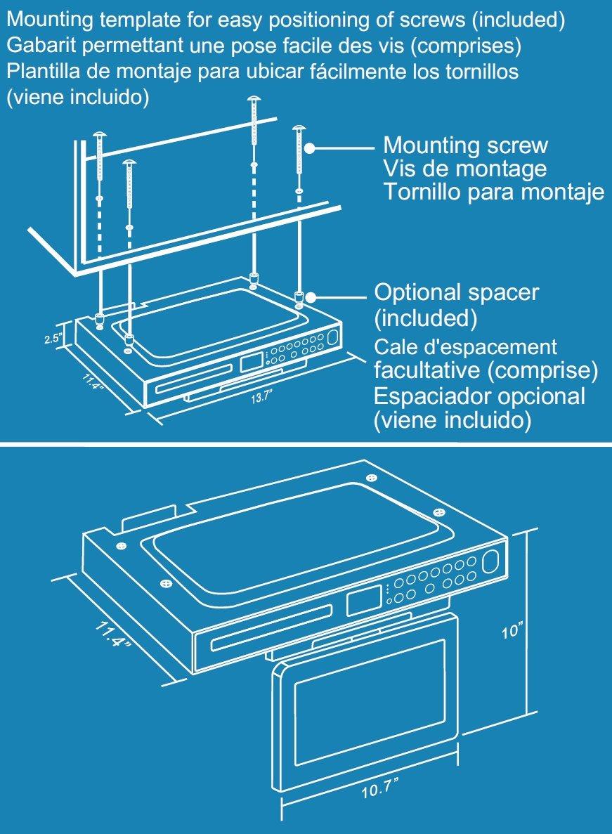 Amazon.com: Venturer KLV39082 8-Inch Undercabinet Kitchen LCD TV/DVD ...