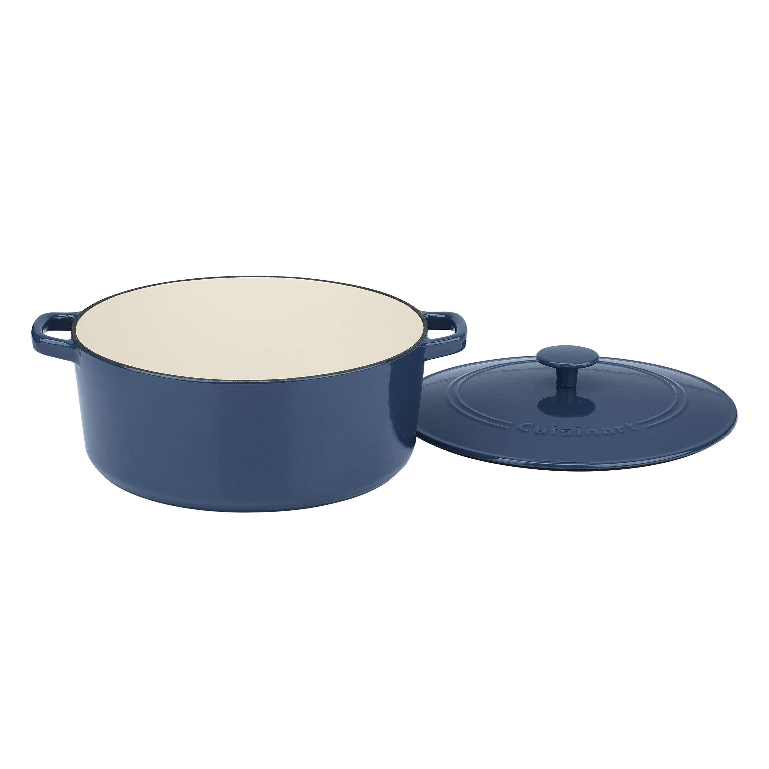 CUISINART CI30-23BG Chefs Classic Enameled Cast Iron 9-1//4 Square Grill Pan Provencal Blue