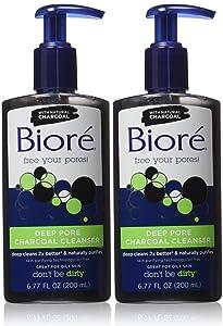 Biore Deep Pore Charcoal Cleanser, 6.77 fl oz - 2pc