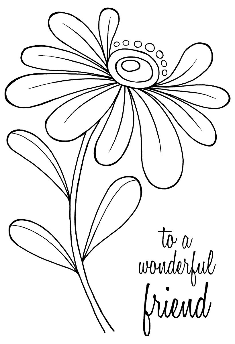 Woodware A6 Clear Cling Stamps - JGS571 Whimsical Flower - Alice by WoodWare