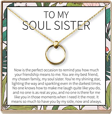 Friends Forever Long Distance Dear Ava Necklace: BFF 2 Linked Circles