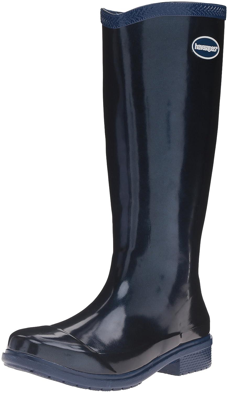Havaianas Women's Galochas Hi Metallic Rainboot Rain Boot B01H6RNVIM 39 BR/9 M US|Navy Blue/Metallic