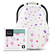 Protect Your Baby! Multi-use Breathable Muslin Baby car seat Cover and Canopy for Infant Carriers