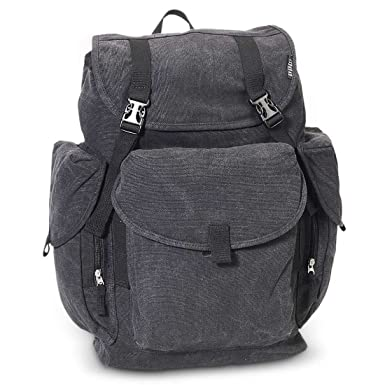 Bagiva Everest Large Cotton Canvas Rucksack Bag Durable Handy Travel  Backpack School Casual Bags Hiking Camping dabd9ab516b53