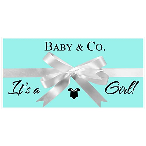 Amazon Tiffany Blue Baby Shower Banner Personalized Custom