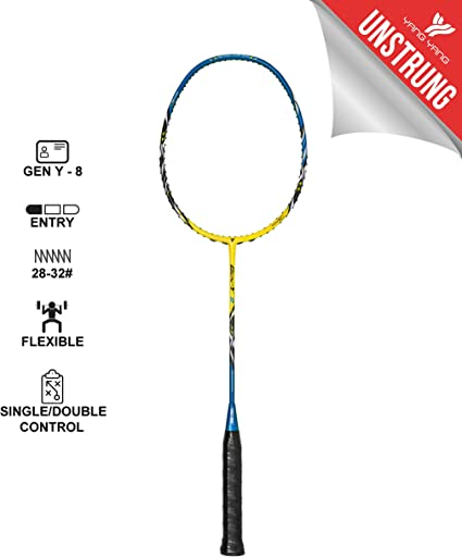 Amazon Com Yang Yang Professional Series Lightweight High Modulus Graphite Badminton Racket Vital Material For Strength Shock Absorption Reducing Muscle Injury W Carrying Bag Sports Outdoors