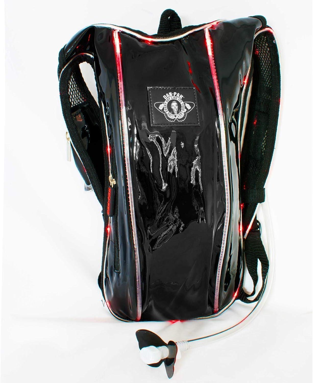 Dan-Pak Hydration Pack 2l-Light Show-Black Bag -RED Lights