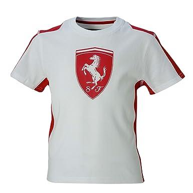 9c87d099e Amazon.com: Kid's Ferrari Shield Bi-Colour T-shirt: Clothing