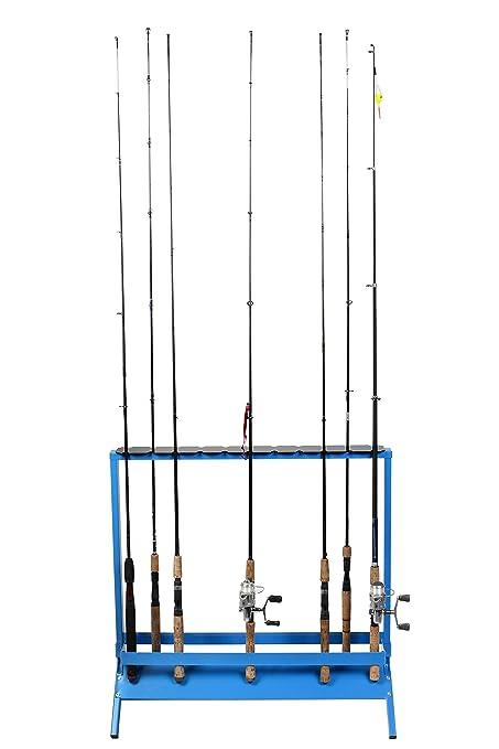 viking solutions fishing rod rack for 22 rods, multicolor horizontal fishing rod rack plans rack fishing rod holder organizer