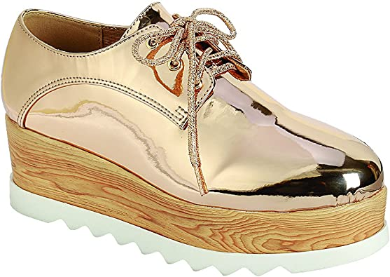 FOREVER FL59 Women's Lace-up White Sole