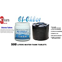 Ef-Chlor (NaDCC), 16000 Liters Water Tank Cleaning Tablets, Pack of 50 Tablets for 16000 Liters Water, 1 Tablet Purifies 500 Liters Water