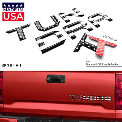 Red BDTrims Tailgate Domed 3D Raised Letters Compatible with 2014-2020 Tundra Models