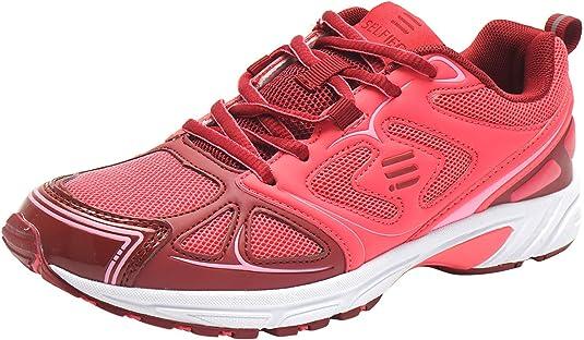 SelfieGo - Zapatillas de deporte para mujer, transpirables, para correr, fitness, (con un par de plantillas adicionales), color Rojo, talla 36 EU: Amazon.es: Zapatos y complementos