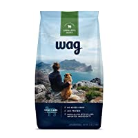 Amazon Brand - Wag Dry Dog Food, 35% Protein, No Added Grains (Beef, Salmon, Turkey...