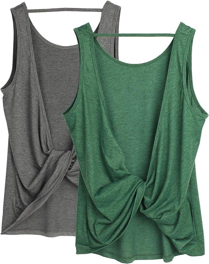 Amazon.com: icyzone - Camiseta de tirantes para mujer ...