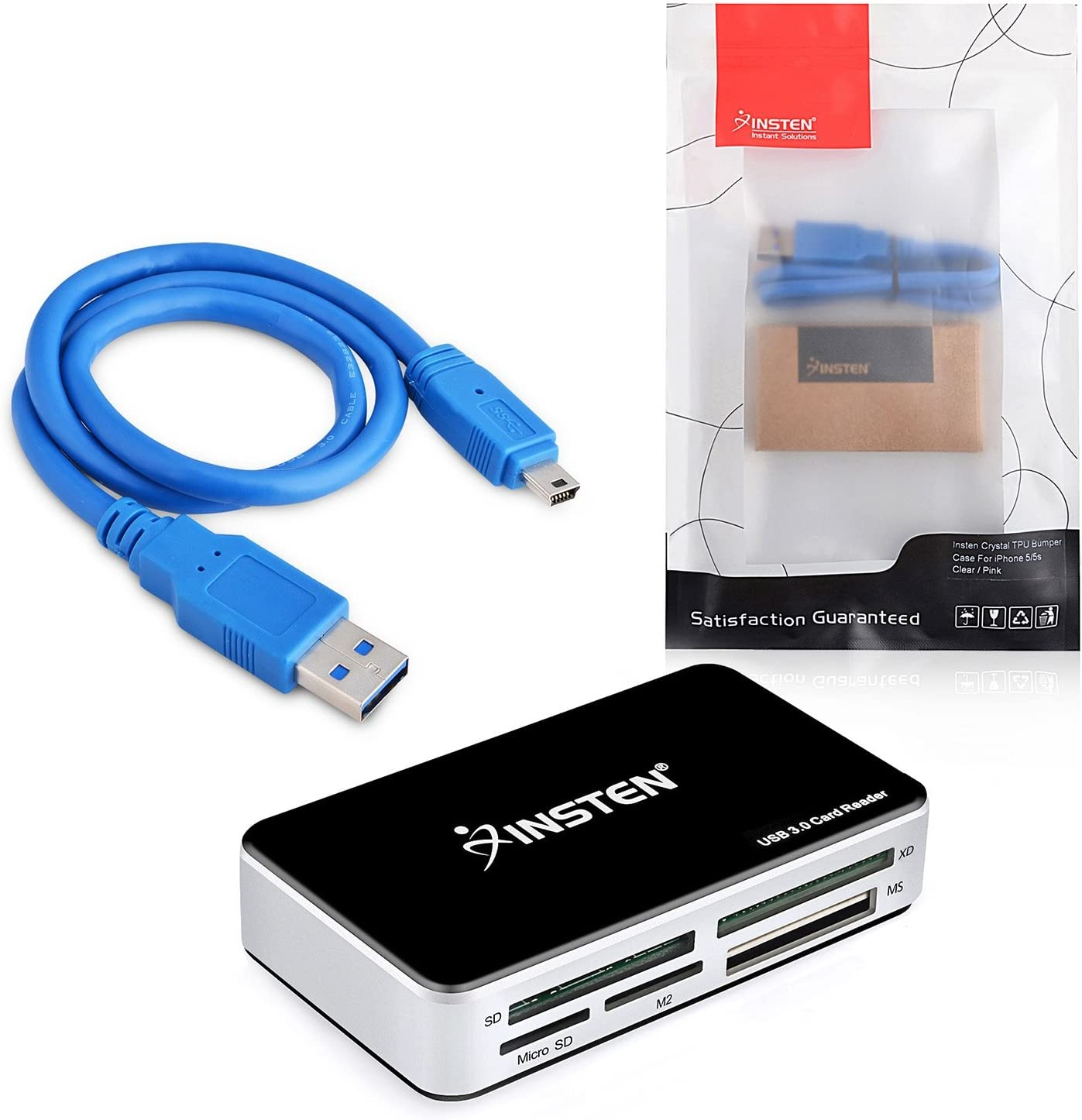 SanFlash PRO USB 3.0 Card Reader Works for Alcatel OneTouch Idol Mini Adapter to Directly Read at 5Gbps Your MicroSDHC MicroSDXC Cards