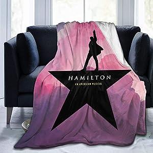 Ultra Soft Flannel Fleece Blanket Hamilton an American Musical Fashion Stylish Bedroom Living Room Sofa Warm Throw Blanket 50