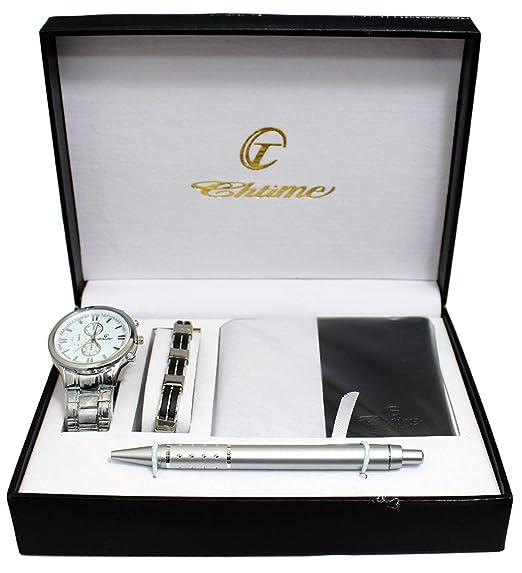 BELLOS: ERNEST, estuche regalo para hombre: reloj + cartera + bolígrafo + linterna: Amazon.es: Relojes