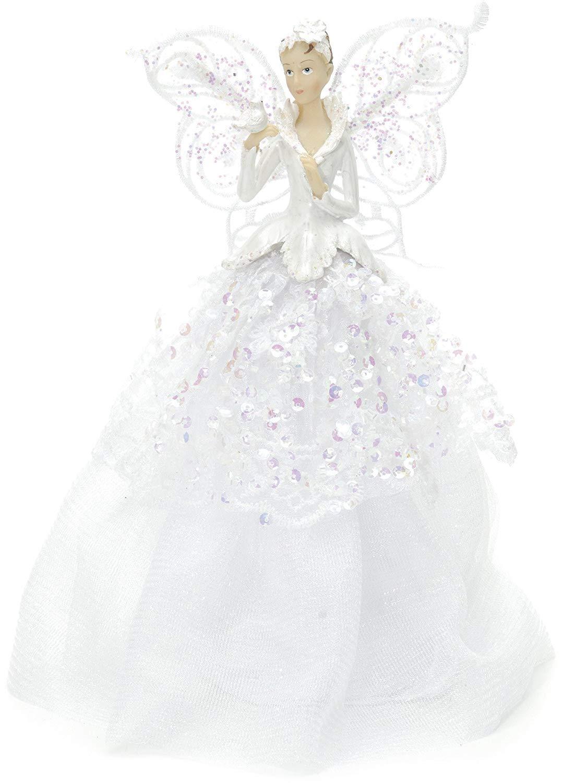 online store 80368 0d700 Gisela Graham Iridescent Fairy Angel Tree Topper