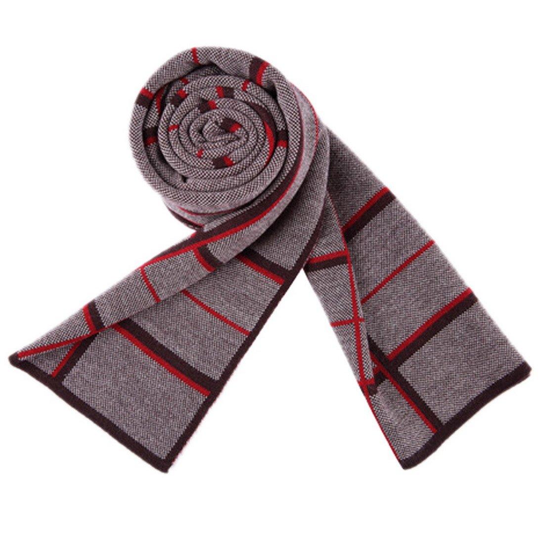 PENAGY Men Winter Fashion Scarves Super Woollen Stylish Soft Luxurious Scarf Shawl-COFFEE