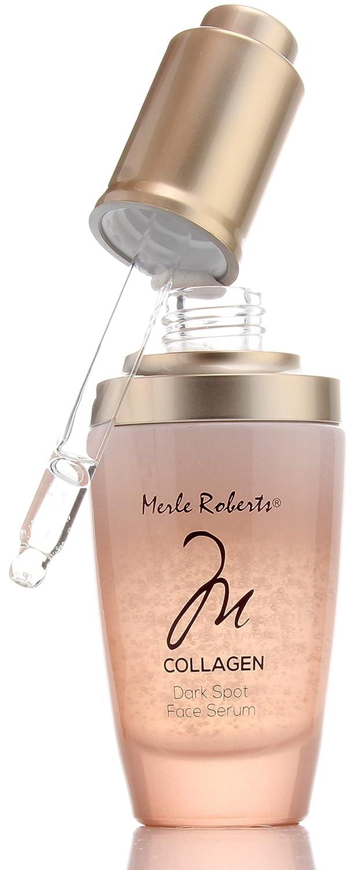 Merle Roberts Dark Spot Serum with Collagen. Anti-aging serum for Wrinkles, Sagging Skin, Fine lines. With Bulgarian Rose & Antioxidant Superfood botanicals Kale, Acai, Noni. (1oz)