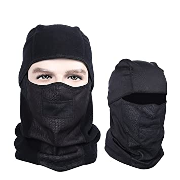 Balaclava Ski Mask, Extra Thick Warmer Windproof Motorcycle and Skiing Face  Mask (Black)