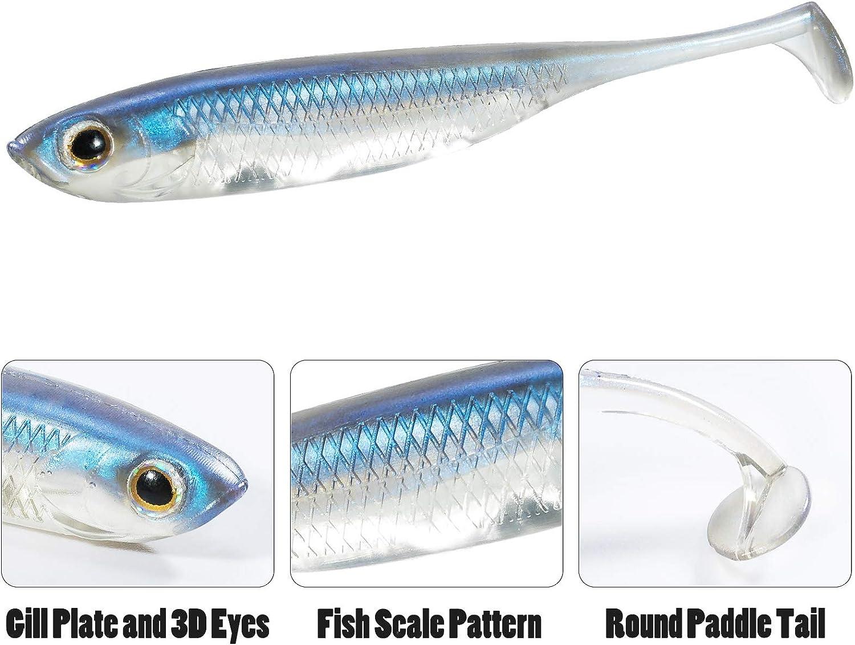 Details about  /Dragon Belly Fish Pro 5cm 1g 5 pcs Soft Bait Chub Ide Rudd Perch COLORS