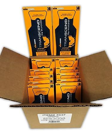 Transcend 15g Orange Glucose Gels in 3-Packs 12