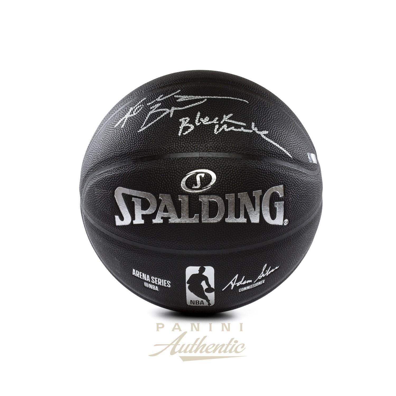 8efe7e2b730 Kobe Bryant Autographed Black Spalding Replica Basketball with