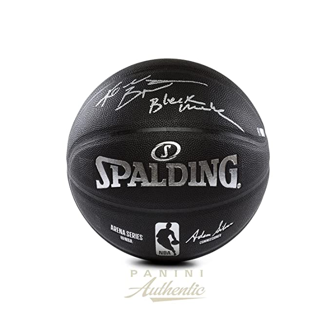 Kobe Bryant Autographed Black Spalding Replica Basketball with