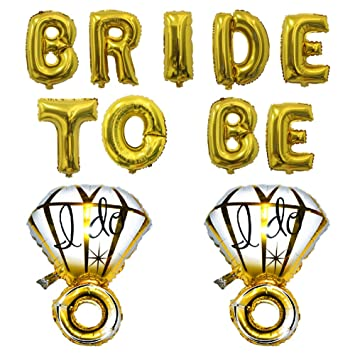 32 bride to be gold foil letter balloons 2pcs 70cm i