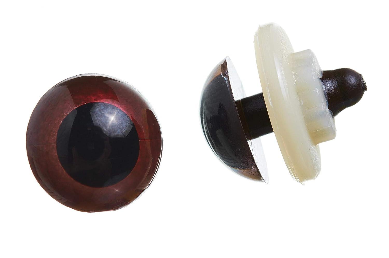 Busta 10/Pezzi RAYHER HOBBY 8911105/plastica Occhi degli Animali a Incastro Colore: Marrone Scuro 12/mm di Diametro
